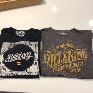 2 Men's BILLBONG shirts. Size large.